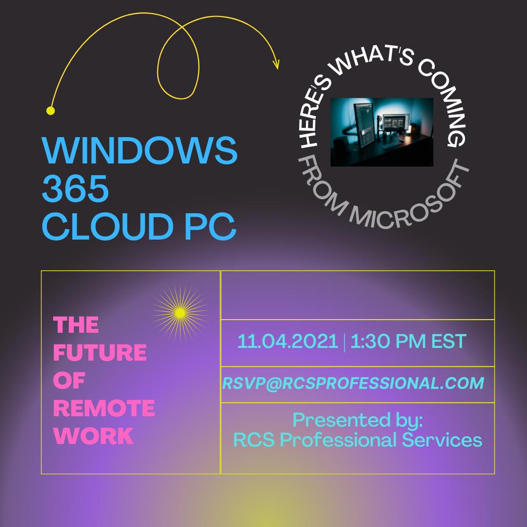 Microsoft 365 Cloud PC Flyer